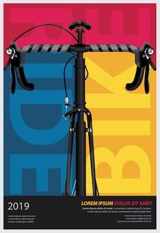 Ilustracja wektorowa szablon projektu jazda na rowerze