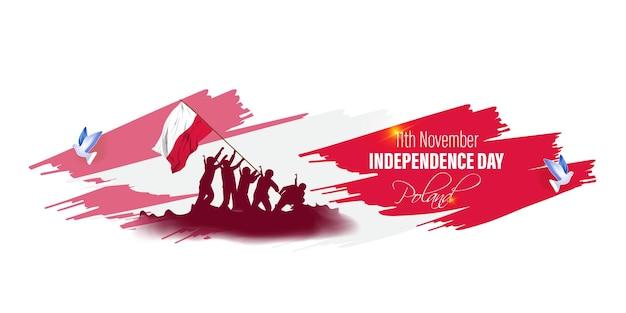 Ilustracja wektorowa szczęśliwego dnia niepodległości polski