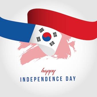 Ilustracja wektorowa szczęśliwy dzień niepodległej korei południowej