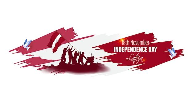Ilustracja wektorowa szczęśliwy dzień niepodległości łotwy