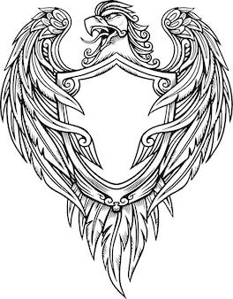 Ilustracja wektorowa tarcza orła