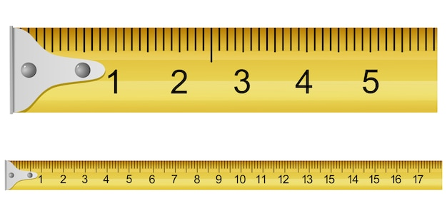 Ilustracja wektorowa taśmy pomiarowej