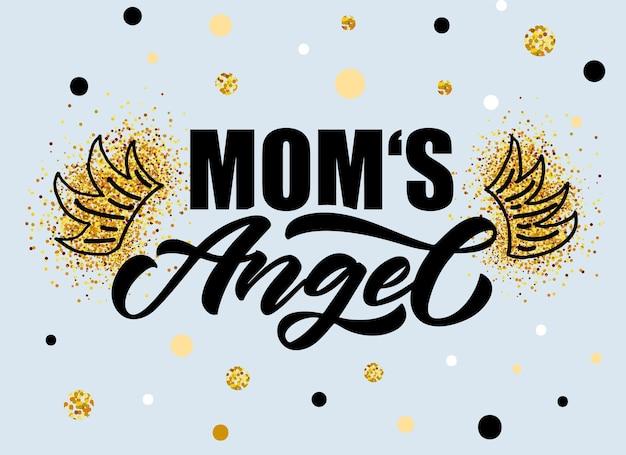 Ilustracja wektorowa tekstu little angel dla dziewczynek ubrania daddys angel odznaka ikona tagu tshirt