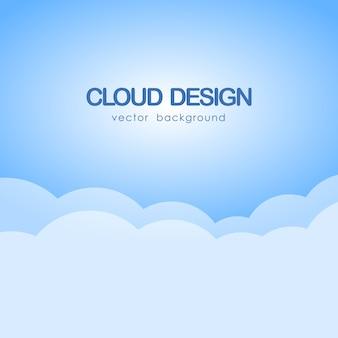 Ilustracja wektorowa: tło nieba z chmurami.