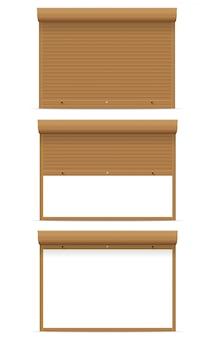 Ilustracja wektorowa toczenia brązowy rolety