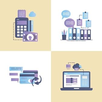Ilustracja wektorowa transakcji biznesowych