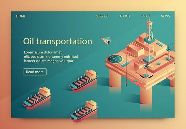 Ilustracja wektorowa transport oleju napis.