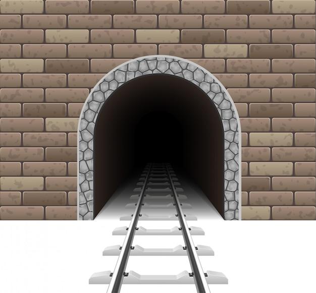 Ilustracja wektorowa tunelu kolejowego