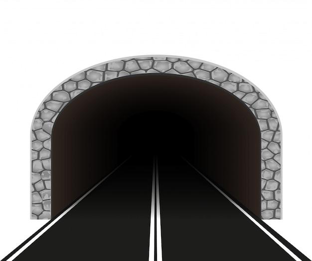 Ilustracja wektorowa tunelu samochodowego
