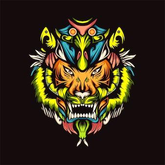 Ilustracja wektorowa tygrysa