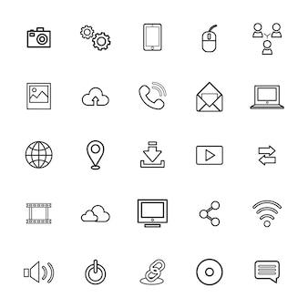 Ilustracja wektorowa ui technologii ikona koncepcja