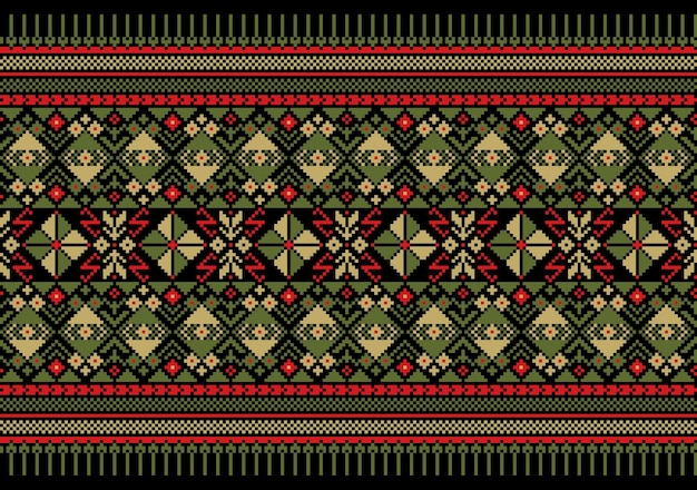 Ilustracja wektorowa ukraińskiego ludowego ornamentu bez szwu pattern