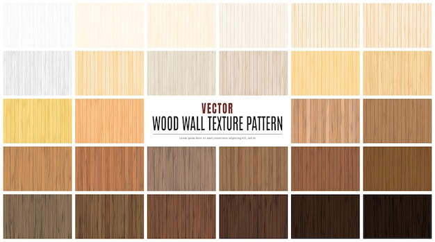 Ilustracja wektorowa uroda wood wall floor texture pattern zestaw kolekcja tła.
