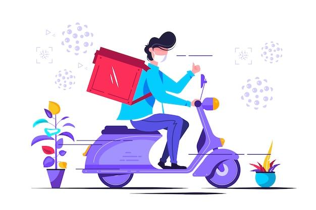 Ilustracja wektorowa usługi dostawy