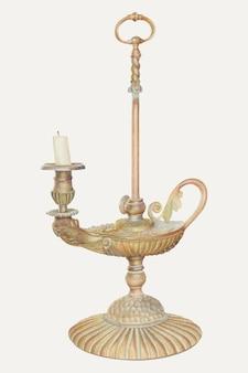 Ilustracja wektorowa vintage świecznik, zremiksowana z grafiki autorstwa josepha l. boyda