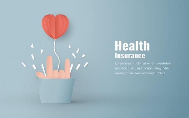 Ilustracja wektorowa w koncepcji ubezpieczenia zdrowotnego
