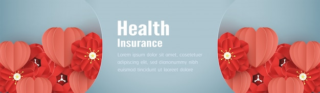 Ilustracja wektorowa w koncepcji ubezpieczenia zdrowotnego.