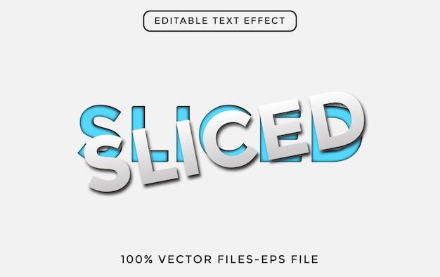 Ilustracja wektorowa w plasterkach edytowalny efekt tekstowy