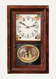 Ilustracja wektorowa w stylu vintage zegar, zremiksowana z grafiki autorstwa dany bartlett