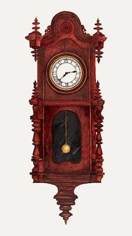Ilustracja wektorowa w stylu vintage zegar, zremiksowana z grafiki autorstwa florence stevenson