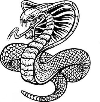 Ilustracja wektorowa wąż kobra