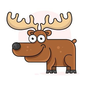 Ilustracja wektorowa wesoły jelenia