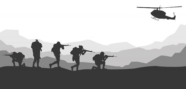 Ilustracja wektorowa wojskowe, tło armii.