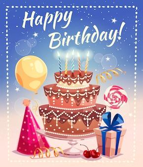 Ilustracja wektorowa wszystkiego najlepszego z okazji urodzin