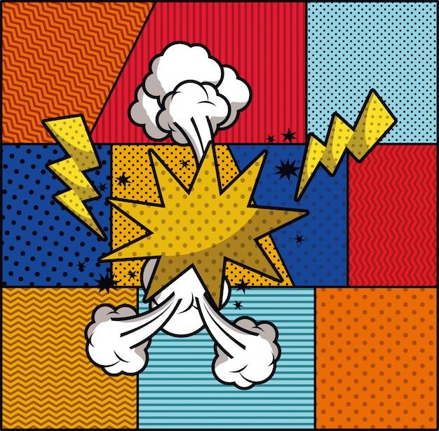 Ilustracja wektorowa wyrażenie stylu pop-artu