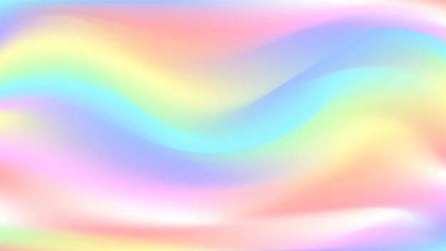 Ilustracja wektorowa z abstrakcyjnym niewyraźnym tłem holograficznym opalizująca okładka notebooka