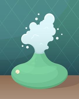 Ilustracja wektorowa z nawilżaczem powietrza.