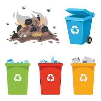 Ilustracja wektorowa z recyklingu pojemnika