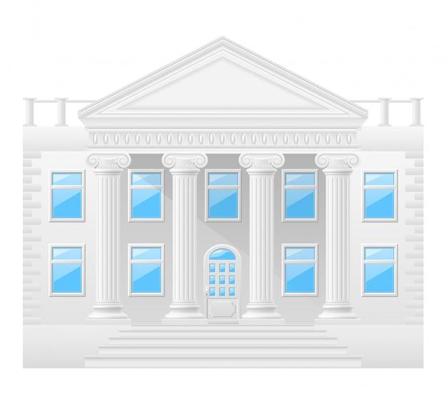 Ilustracja wektorowa zabytkowego budynku