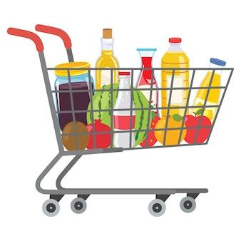 Ilustracja wektorowa zakupów