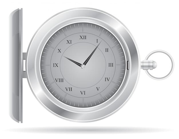 Ilustracja wektorowa zegarek kieszonkowy