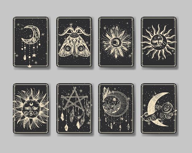 Ilustracja wektorowa zestaw faz księżyca