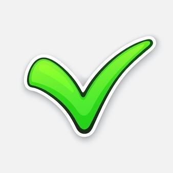 Ilustracja wektorowa zielony znacznik wyboru oznacza właściwy wybór