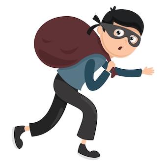 Ilustracja wektorowa złodzieja