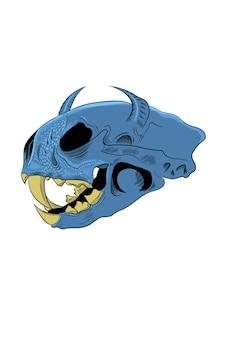 Ilustracja wektorowa zwierząt czaszki