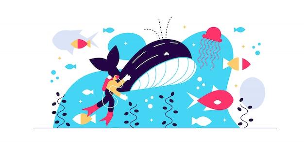 Ilustracja wektorowa życia morskiego.