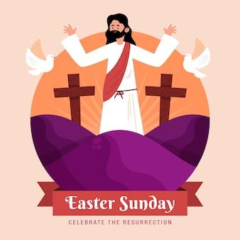 Ilustracja wielkanocna niedziela