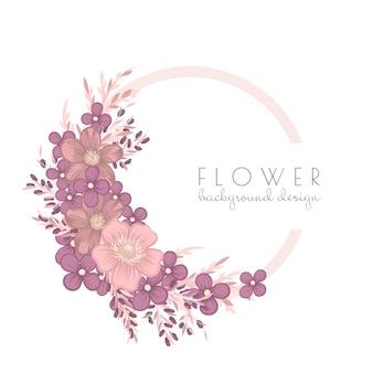 Ilustracja wieniec kwiatów