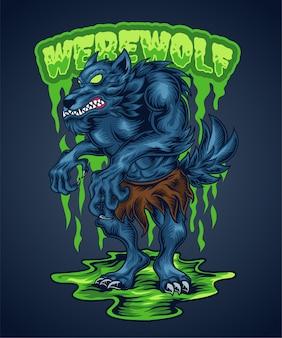 Ilustracja wilkołaka