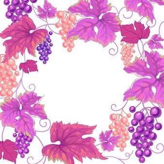 Ilustracja winorośli.