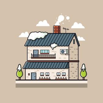 Ilustracja winter house