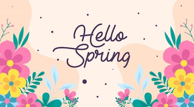 Ilustracja wiosny kwiaty wiosny
