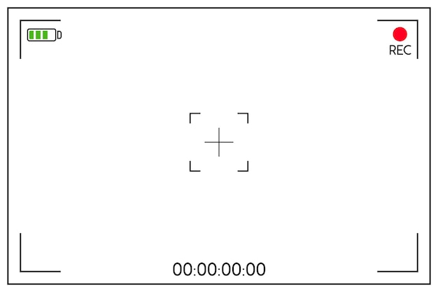 Ilustracja wizjera aparatu cyfrowego