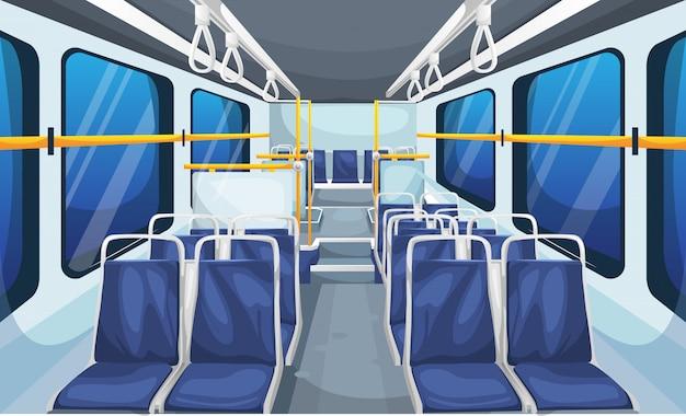 Ilustracja wnętrza autobusu