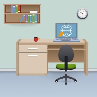 Ilustracja wnętrza gabinetu
