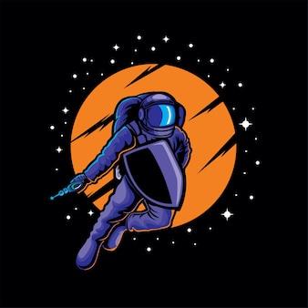 Ilustracja wojen astro